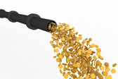 Gold stream — Stock Photo