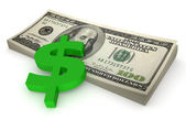 Sheaf of dollars #3 — Stock Photo