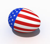 Easter egg with figure of a flag of USA — Stock Photo