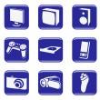 Royalty-Free Stock Imagen vectorial: Electronics - vector web icons