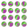 Vector web icons (buttons) - Stock Vector