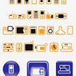 Stock Vector: Home electronics - set of vector icons