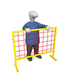The man behind the fence — Stock Photo