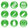 Drug-store - vector web icons - Stock Vector