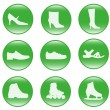 Foot-wear - vector web icons — Stock Vector
