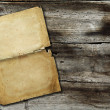 Stock Photo: Paper on wood