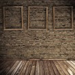 Royalty-Free Stock Photo: Old grunge interior with blank frames