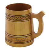 Wooden beer mug — Stock Photo