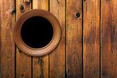 木墙上的复古框架 — 图库照片