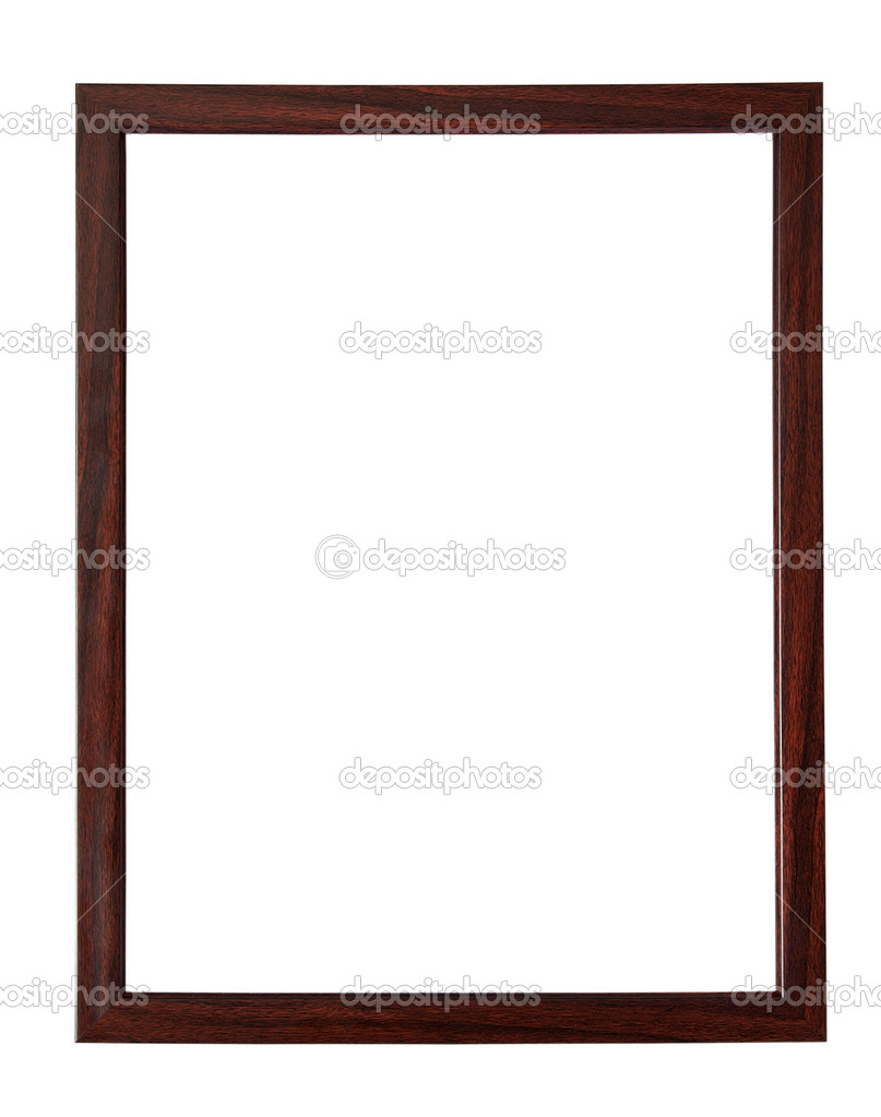 Wooden picture-frame isolated on white background with clipping path — Stock Photo #1231063