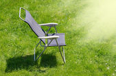 Canvas chair with shadow — Stock Photo