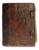 Leather cover of antique book — Stock Photo