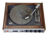 Old record-player isolated — Stock Photo