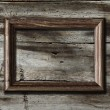 Frame on wooden background - Foto Stock