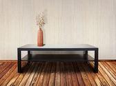 Interior with table and ikebana — Stock Photo