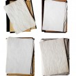 Set of old folders with stack of papers — Stock Photo #1742398