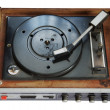 Stock Photo: Old record-player isolated