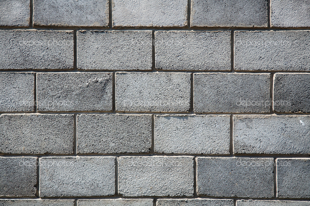 Grey brick wall  Stock Photo #1927502