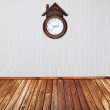 Room with vintage clock — Stock Photo