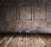 Room with three frames — Stock Photo