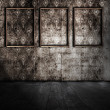 Old room with wooden frames — Stock Photo