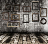 Old interior wooden frames — Stock Photo