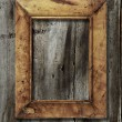 Stock Photo: Frame on wooden background