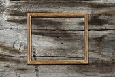 Cadre sur fond en bois — Photo