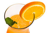 Orange cocktail with orange slice — Stock Photo