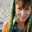 Young beautiful ethnic style girl — Stock Photo