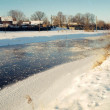 Frozen river — Stockfoto