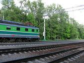 Moving locomotive — Stock Photo