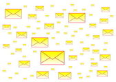 Spam letters — Stock Photo
