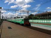 Arriving train — Stock Photo