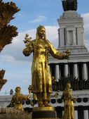 Gold statue — Stock Photo