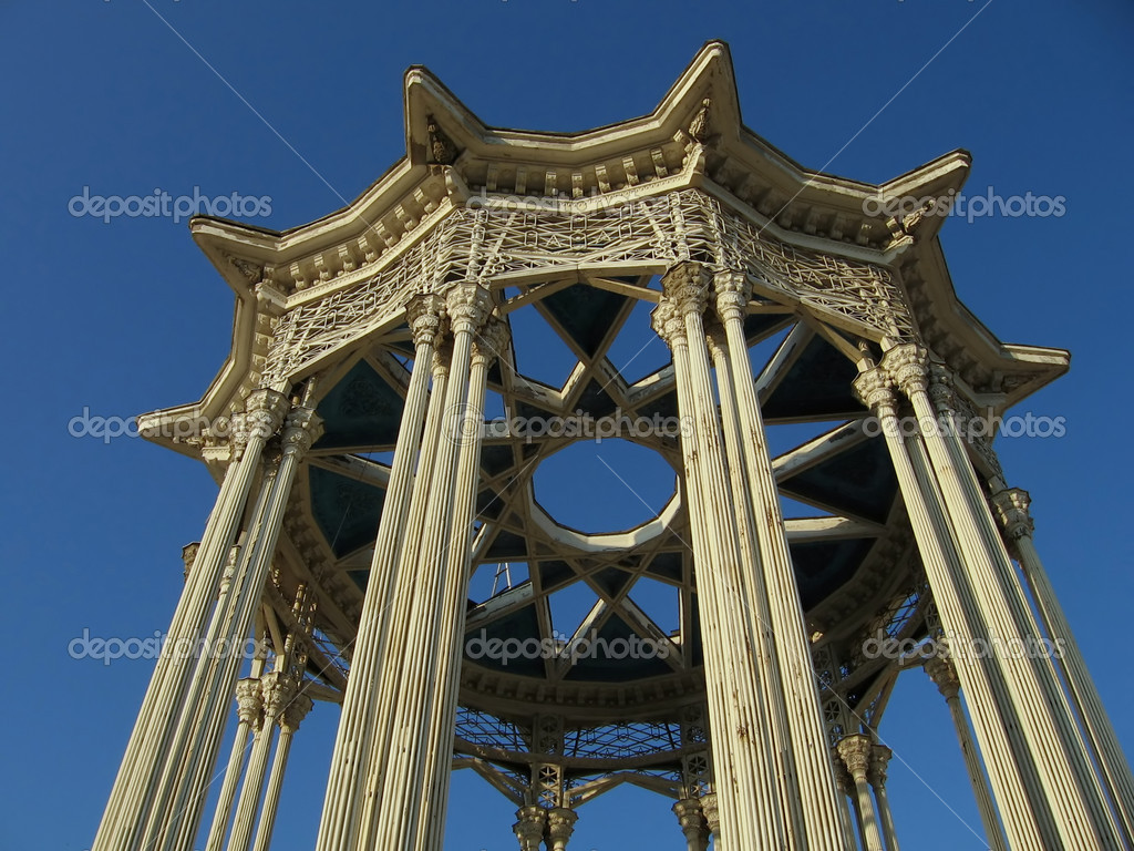 Very beautiful entrance to pavilion named Culture in Moscow  Stock Photo #1555875