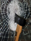 Axe in glass — Stock Photo