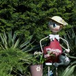 Little man in garden — ストック写真