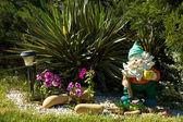 Garden gnome — Stock Photo