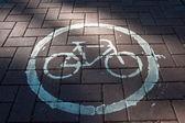 Roadside Bicycle Lane Detail — Stock Photo