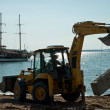 Bulldozer on Beach — Stock Photo