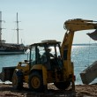 Stock Photo: Bulldozer on Beach