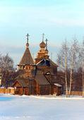 Russian wooden church — Stock Photo