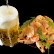 Royalty-Free Stock Photo: DSC_7049 beer and shrimp