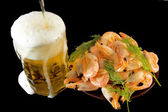 DSC_7049 beer and shrimp — Foto Stock