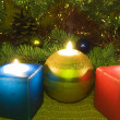 Christmas candles — Stock Photo #1203304