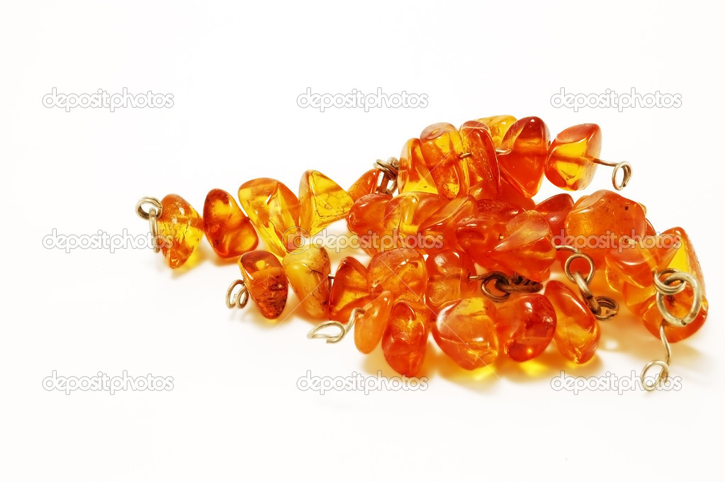 Images stones amber insulated on white background — Stock Photo #2241196