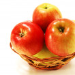Apples in wicker vase — Stock Photo #2309442