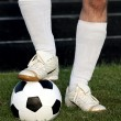 Legs with ball — Stock Photo