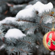 Christmas red decoration — Stock Photo #1142900